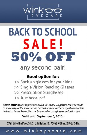 Back To School Sale 2015 - WEC